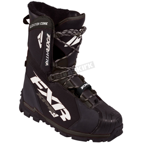FXR Racing Black Elevation Lite Core Boots - 170703-1000-15