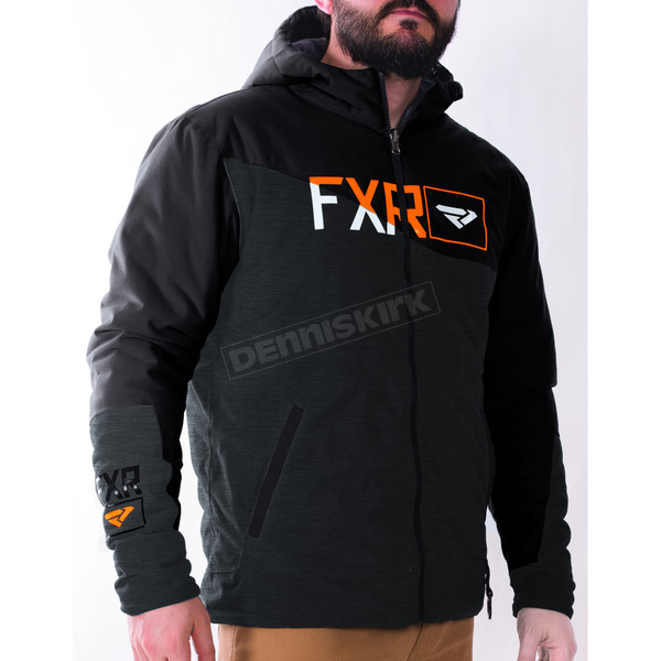 FXR Racing Black/Charcoal/Orange Track Insulated Reversible Jacket - 170924-1000-22