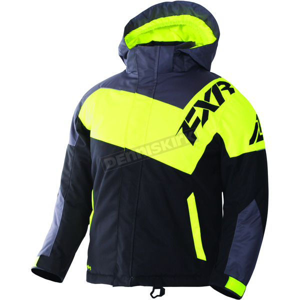 FXR Racing Child's Black Charcoal/Hi-Vis Squadron Jacket - 170407-1065-08