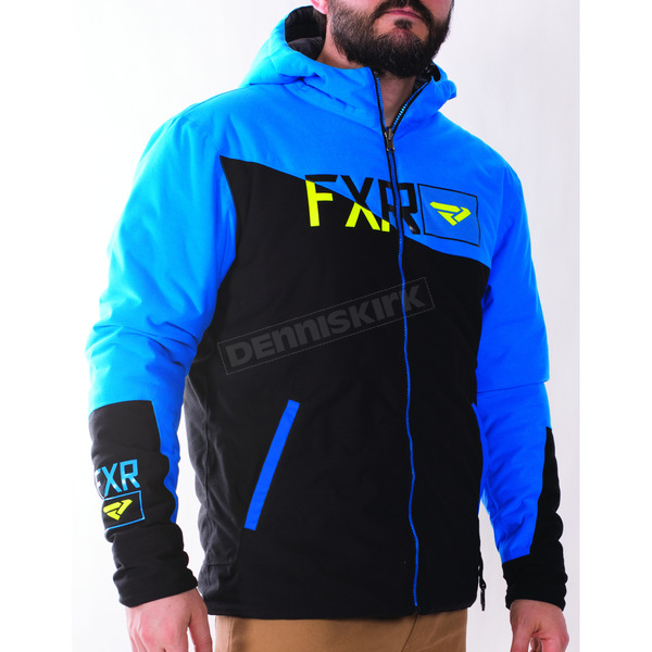 FXR Racing Black/Blue Track Insulated Reversible Jacket - 170924-1040-10