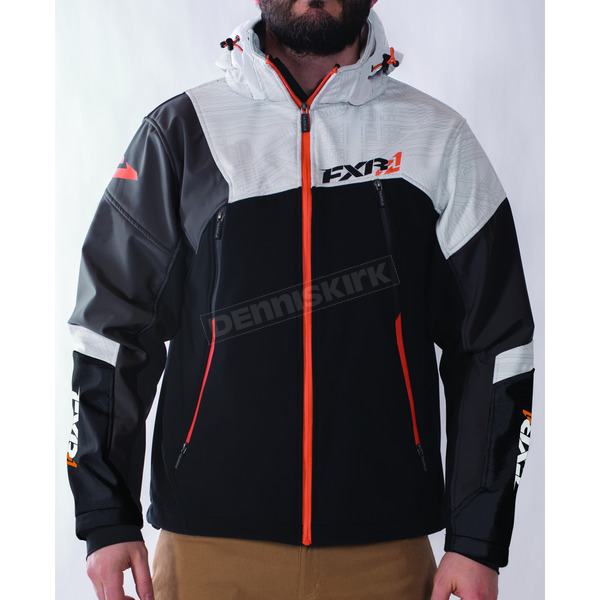 FXR Racing Black/Charcoal/White/Orange Renegade Softshell Jacket - 170927-0801-16
