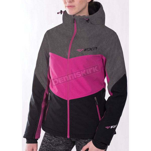 FXR Racing Women's Black/Fuchsia Fresh Softshell Jacket - 171010-1090-06