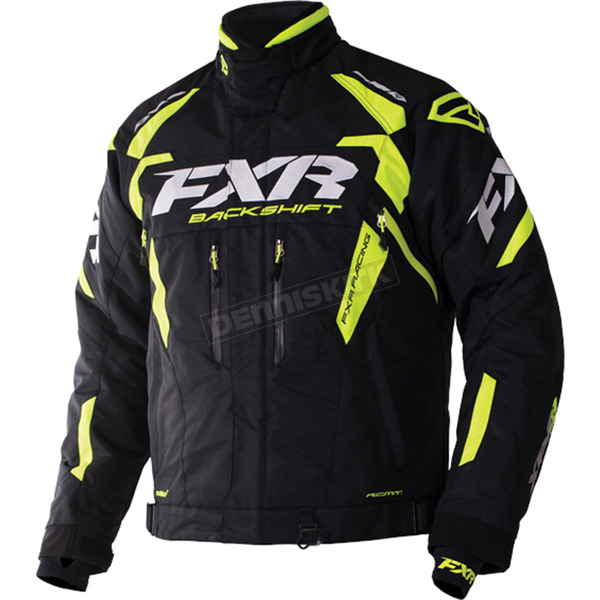 FXR Racing Black/Hi-Vis Backshift Pro Jacket - 170000-1065-22