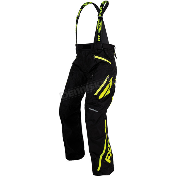 FXR Racing Black/Hi-Vis Mission X Pants - 170112-1065-16