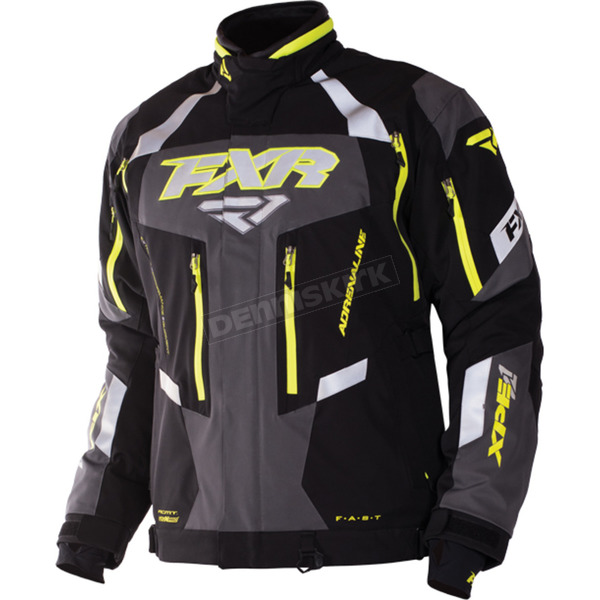 FXR Racing Black/Hi-Vis/Charcoal Adrenaline XPE 3 in 1 Jacket - 170003-1065-14