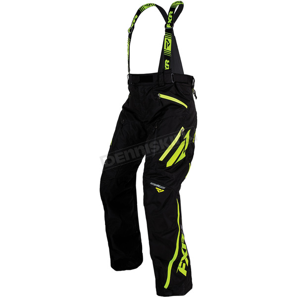 FXR Racing Black/Lime Mission X Pants - 170112-1070-10