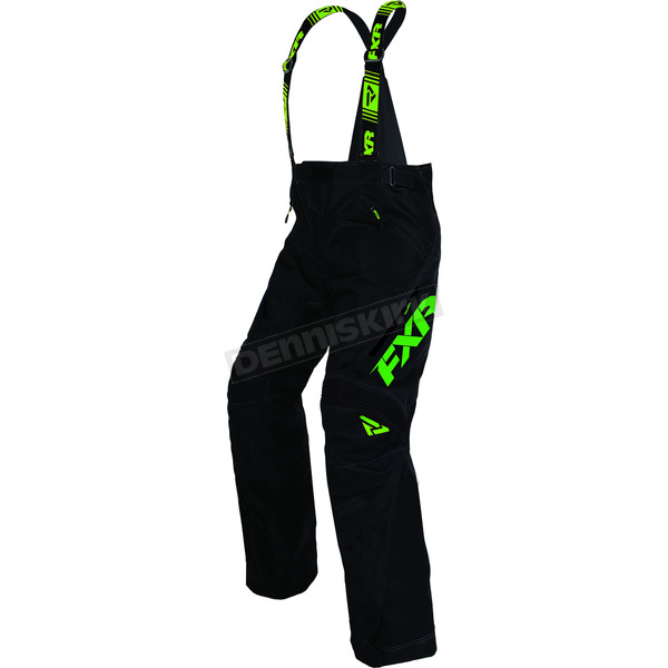 FXR Racing Black/Lime X System Pants - 170110-1070-22