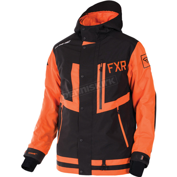 FXR Racing Black/Orange Caliber Jacket - 170021-1030-16