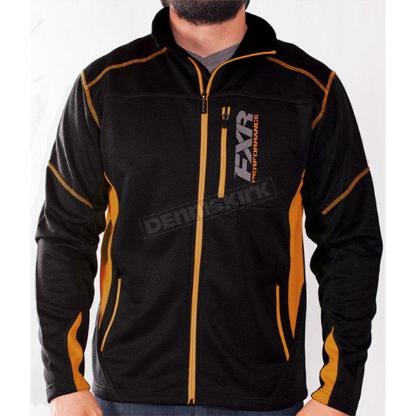 FXR Racing Black/Orange Elevation Tech Zip Up - 170909-1030-13