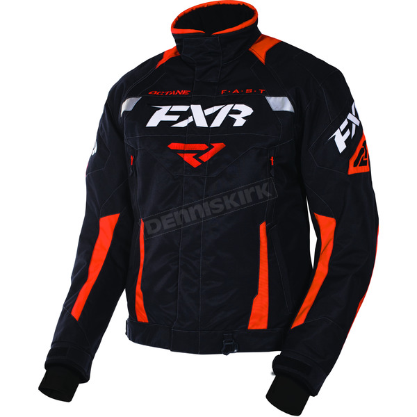 FXR Racing Black/Orange Octane Jacket - 170006-1030-19
