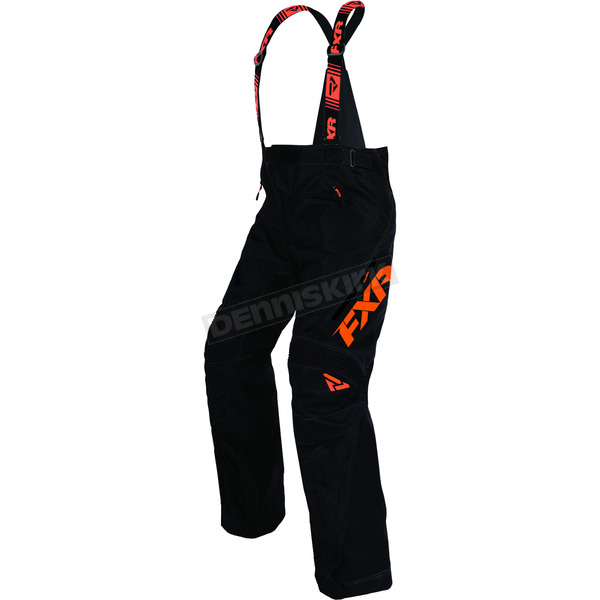 FXR Racing Black/Orange Uninsulated X System Pants - 170111-1030-07