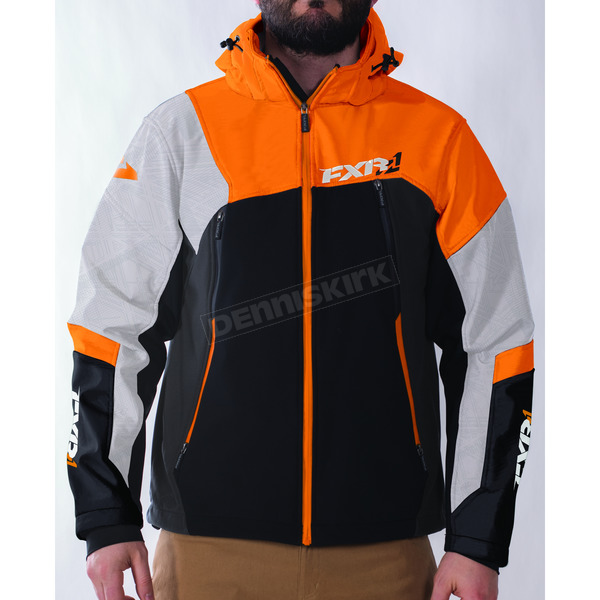 FXR Racing Black/Orange/Charcoal/White Renegade Softshell Jacket - 170927-1030-13