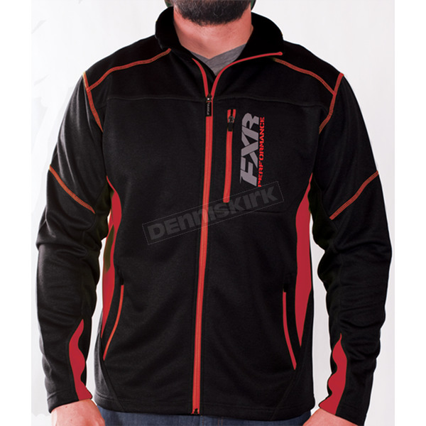 FXR Racing Black/Red Elevation Tech Zip Up - 170909-1020-10