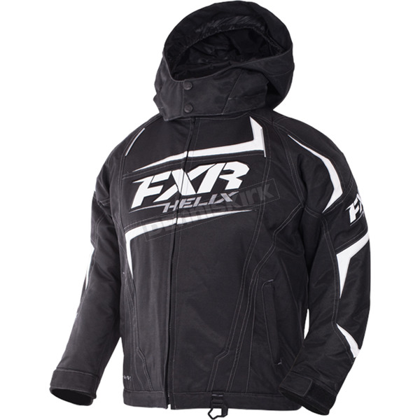 FXR Racing Child's Black/White Helix Jacket - 170409-1001-02