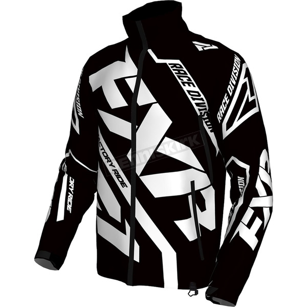 FXR Racing Black/White Cold Cross Race Ready Jacket - 170029-1001-10