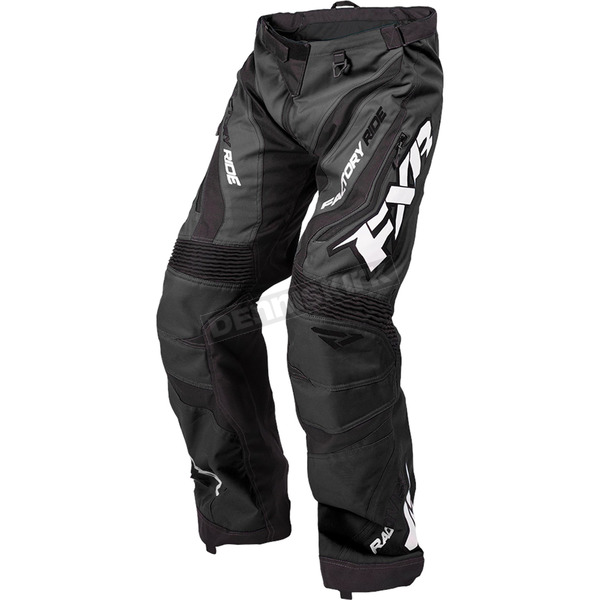 FXR Racing Black/White Cold Cross Race Ready Pants - 170113-1001-01