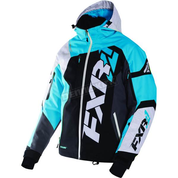 FXR Racing Black/White Weave/Blue Revo X Jacket - 170025-1040-10