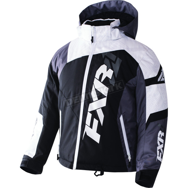 FXR Racing Child's Black/White Weave/Charcoal Revo X Jacket - 170411-1002-06