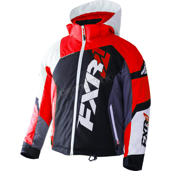 FXR Racing Child's Black/White Weave/Red Revo X Jacket - 170411-1020-02