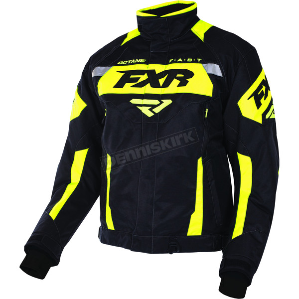 FXR Racing Black/Yellow Octane Jacket - 170006-1060-22