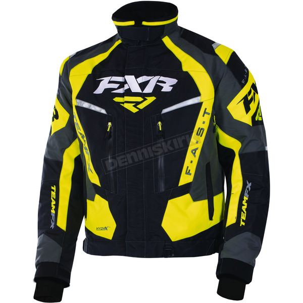 FXR Racing Black/Yellow/Charcoal Team FX Jacket - 170019-1060-10