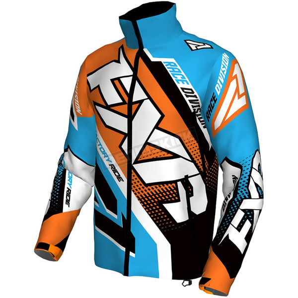 FXR Racing Blue/Orange/Black/White Cold Cross Race Ready Jacket - 170029-4030-19