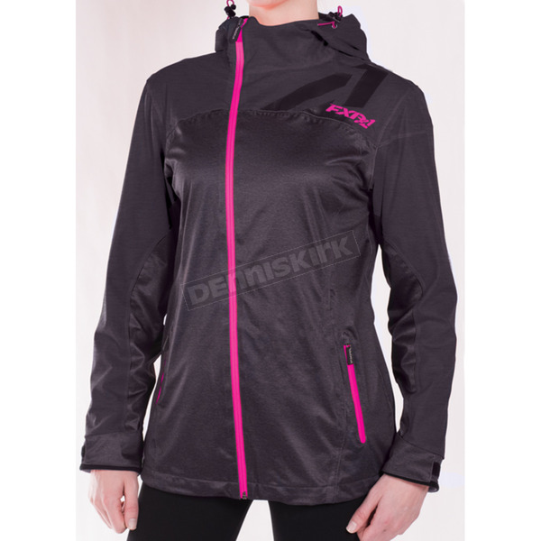 FXR Racing Women's Charcoal Heather/Fuchsia Diamond Dual-Laminate Jacket - 171011-0890-12