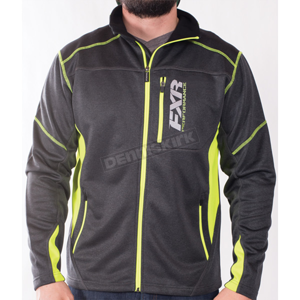 FXR Racing Charcoal Heather/Hi-Vis Elevation Tech Zip Up - 170909-0865-22