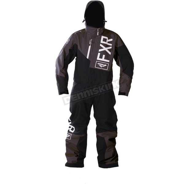 FXR Racing Youth Charcoal/Black/White Squadron Monosuit - 173000-0810-16