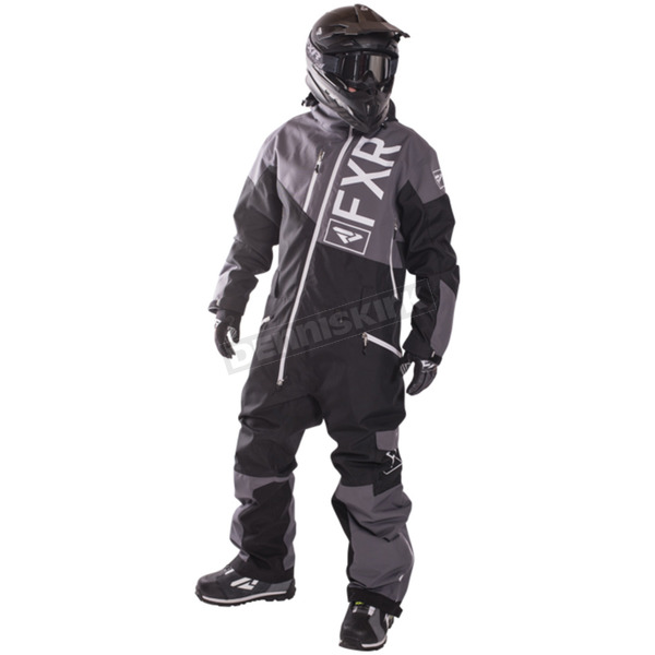 FXR Racing Charcoal/Black/White Insulated Squadron Monosuit - 172805-0810-16
