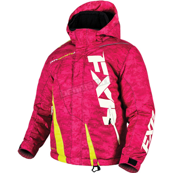 FXR Racing Youth Electric Pink Digi/Hi-Vis Boost Jacket - 170404-9765-12