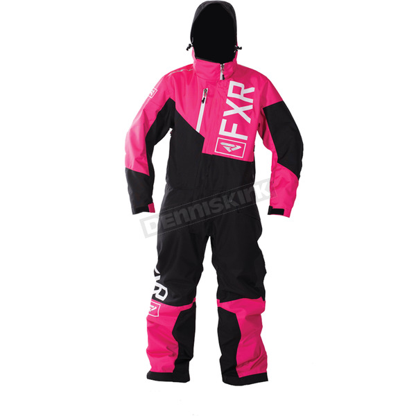FXR Racing Child's Fuchsia/Black Squadron Monosuit - 173001-9010-02