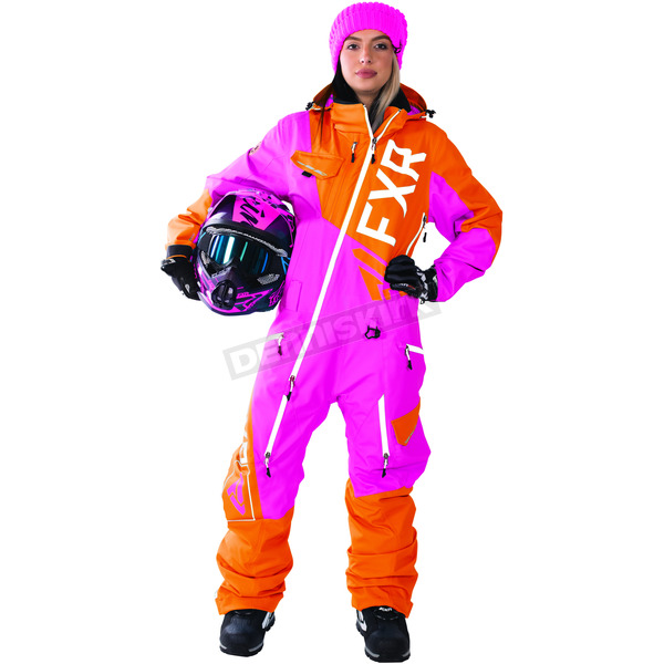 FXR Racing Women's Fuchsia/Orange Ranger Instinct Monosuit - 172903-9030-04