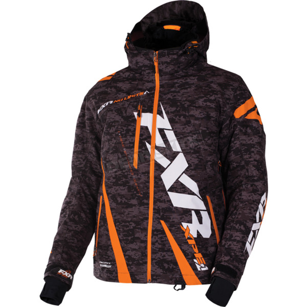 FXR Racing Gray Digi/Orange Boost Jacket - 170011-0630-22