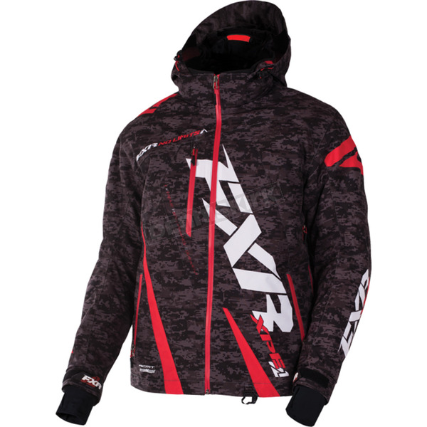 FXR Racing Gray Digi/Red Boost Jacket - 170011-0620-10