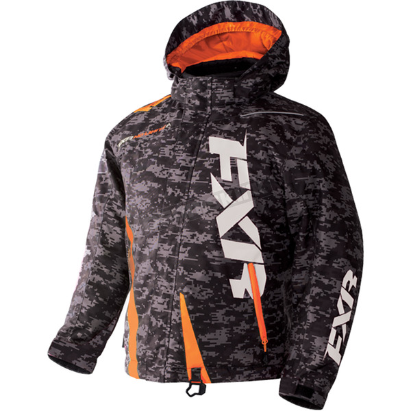 FXR Racing Youth Gray Digi/Orange Boost Jacket - 170404-0630-14