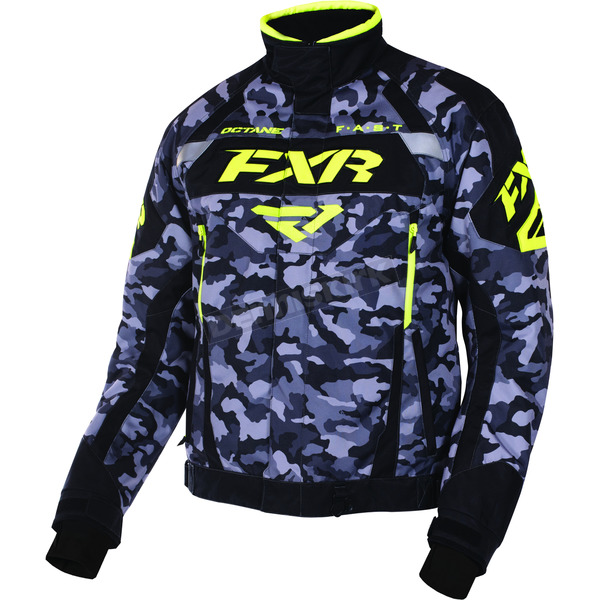 FXR Racing Gray Urban Camo/Black/Hi-Vis Octane Jacket - 170006-0665-10