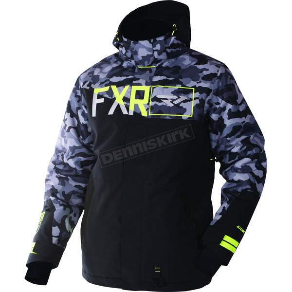 FXR Racing Gray Urban Camo/Black/Hi-Vis Squadron Jacket - 170023-0610-13