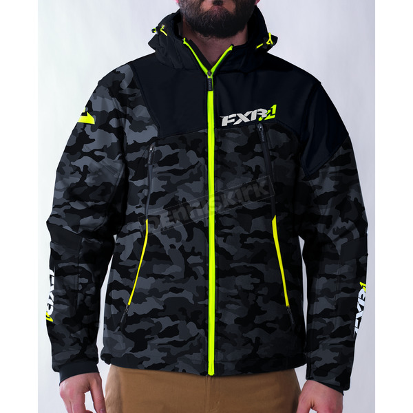 FXR Racing Gray Urban Camo/Hi-Vis Renegade Soft Shell Jacket - 170927-0665-10