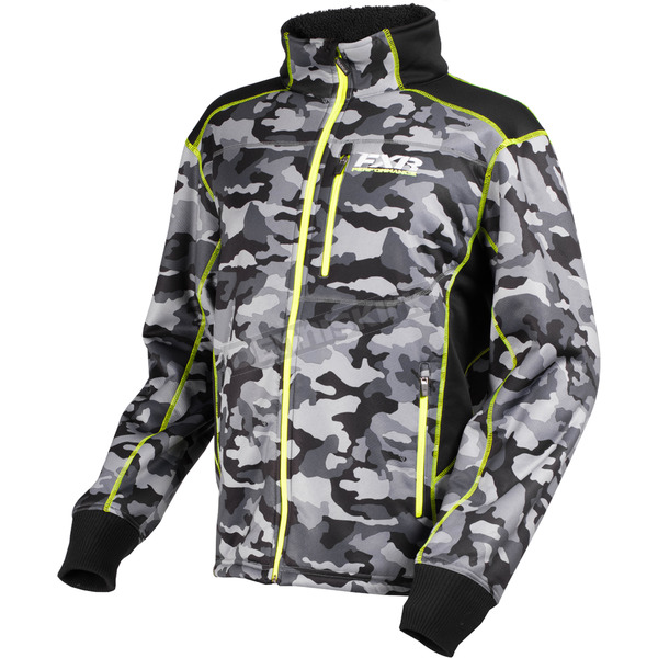 FXR Racing Gray Urban Camo/Hi-Vis Trekker Sherpa Tech Zip-Up - 170908-0665-22