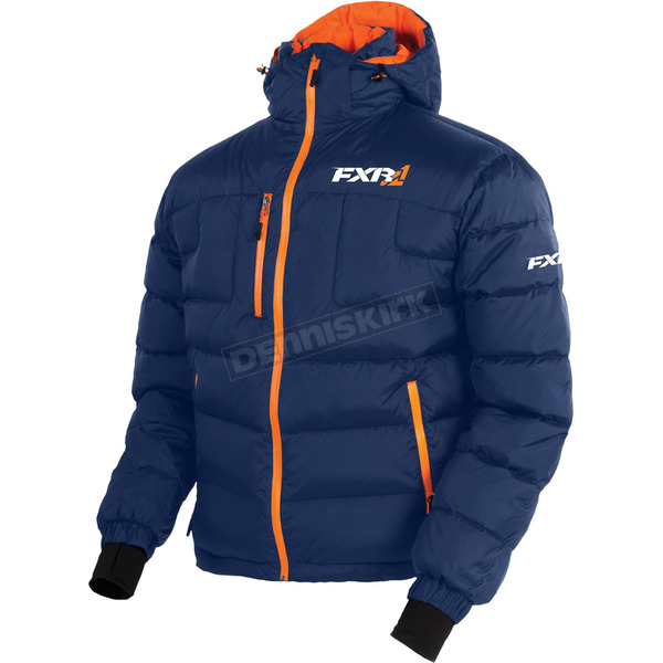 FXR Racing Navy/Orange Elevation Down Jacket - 170030-4530-16