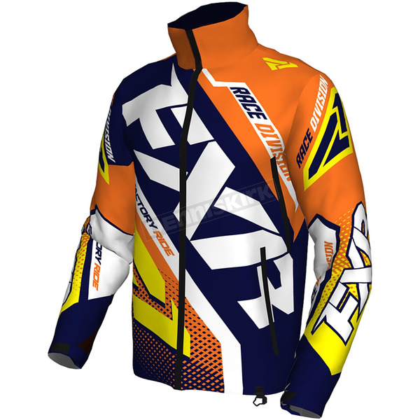 FXR Racing Navy/Orange/Hi-Vis Cold Cross Race Ready Jacket - 170029-4530-19