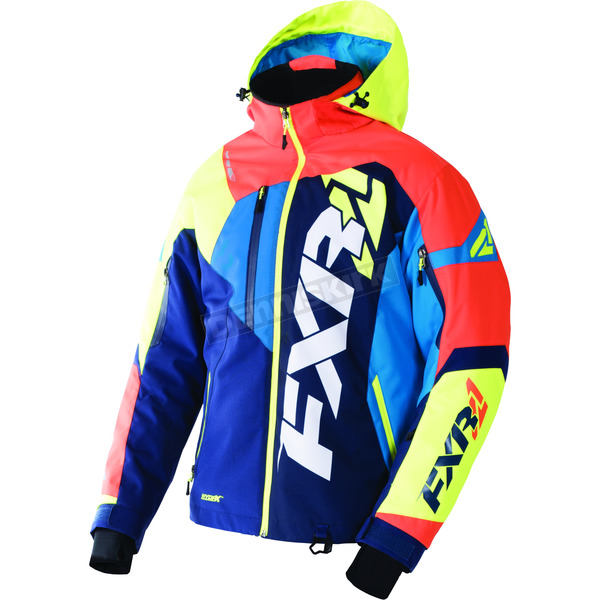 FXR Racing Navy/Orange/Hi-Vis/Blue Revo X Jacket - 170025-4530-19