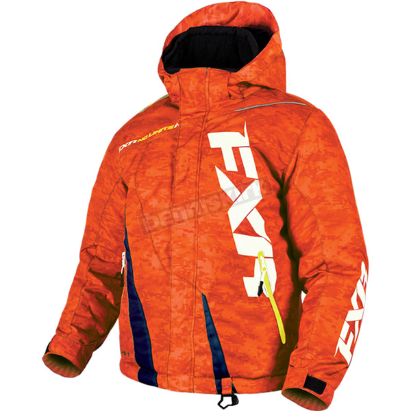 FXR Racing Youth Orange Digi/Navy Boost Jacket - 170404-3165-10