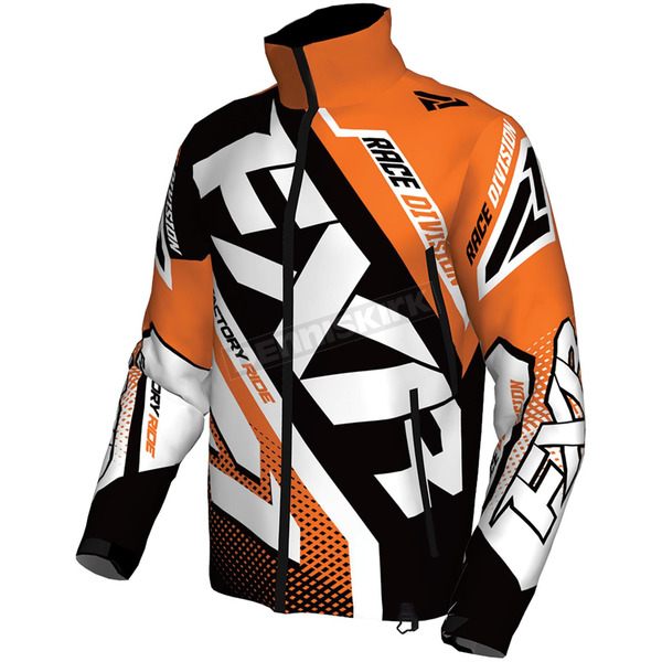 FXR Racing Orange/Black/White Cold Cross Race Ready Jacket - 170029-3010-07