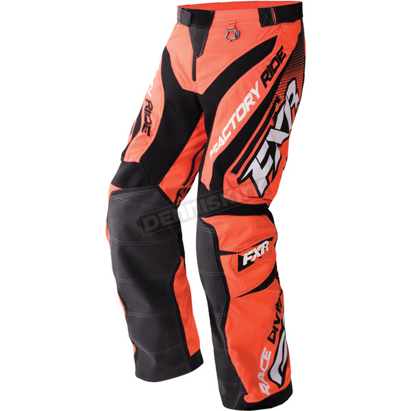 FXR Racing Orange/Black/White Cold Cross Race Ready Pants - 170113-3010-16