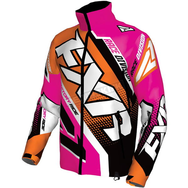 FXR Racing Orange/Fuchsia/White Cold Cross Race Ready Jacket - 170029-3090-01