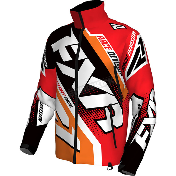 FXR Racing Red/Orange/Black/White Cold Cross Race Ready Jacket - 170029-2030-19