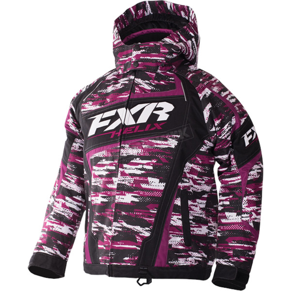 FXR Racing Youth Wineberry/White Cascade Helix Jackt - 170403-8502-16