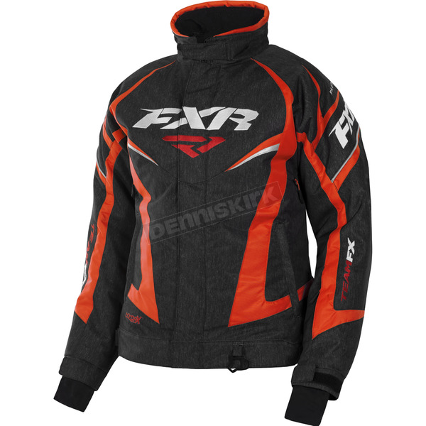FXR Racing Women's Black Heather/Electric Tangerine Team Jacket - 170208-1135-08